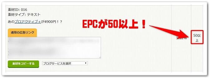 EPCの数値